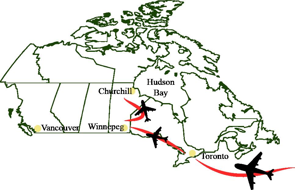 Kanada-Karte-Natur-Wildleben