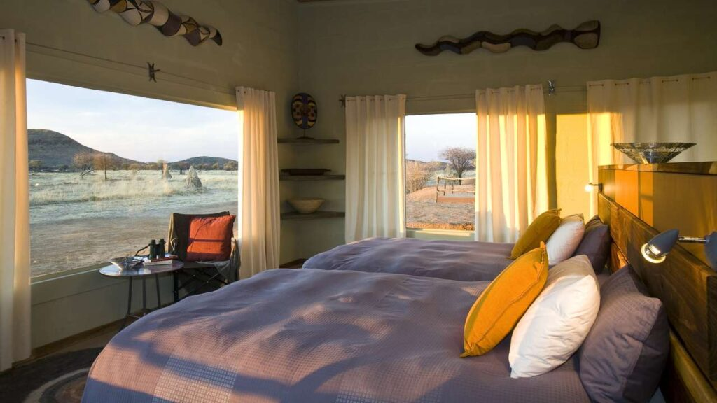 bedroom-view-sunrise-okonjima-bushcamp-namibiacamps-nature-cm-travels-africat-foundation